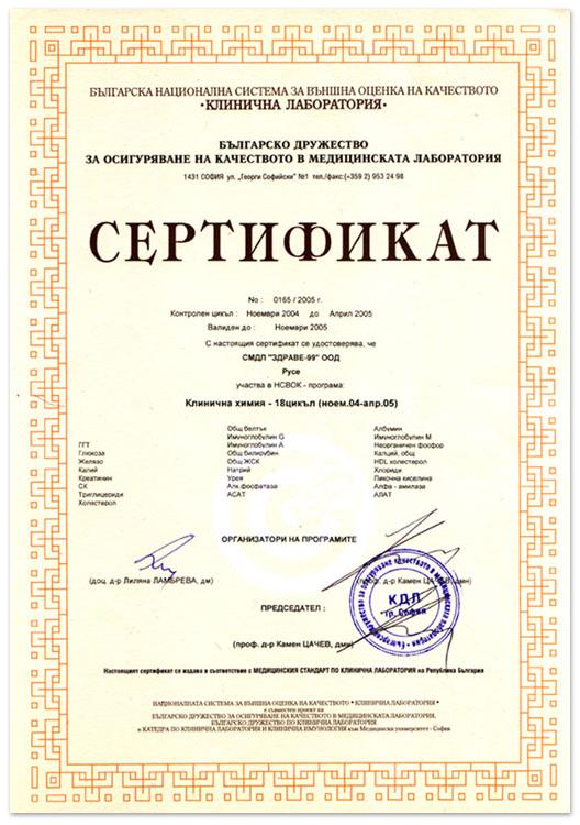Лаборатория ЗДРАВЕ - Русе